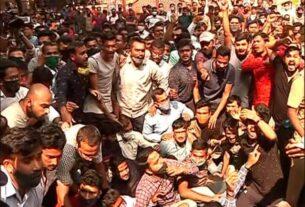 एमपीएससी रद्द,विद्यार्थ्यांचे आंदोलन !पोलिसांचा लाठीचार्ज !!